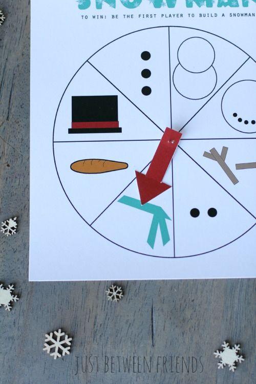 printable spin a snowman game all time favorite printables rh pinterest com