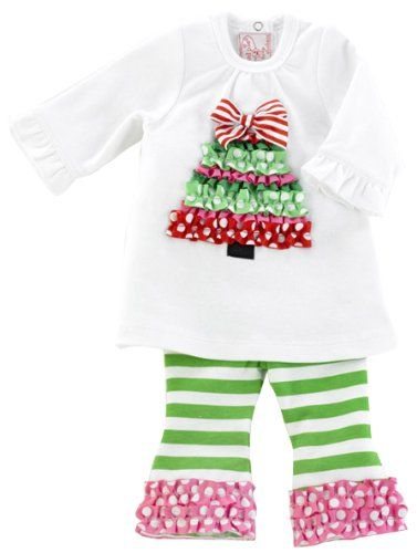 Mud Pie Holiday Pink Santa Tutu Skirt Set  12-18 Months