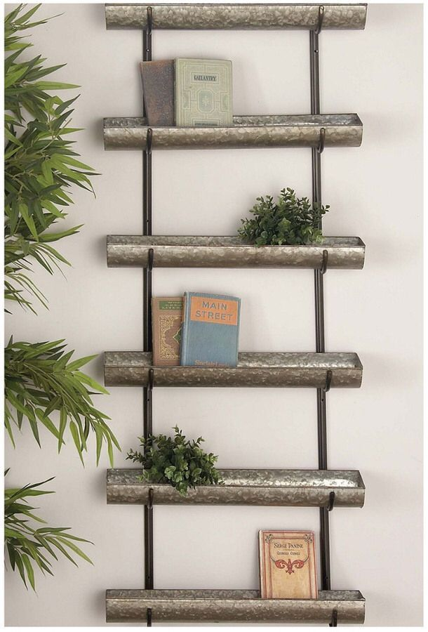 Rustic Metal Wall Planter Hanging Metal wall