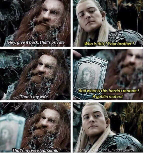 """yes Legolas, you are going to meet the """"mutant goblin"""" as ..."""