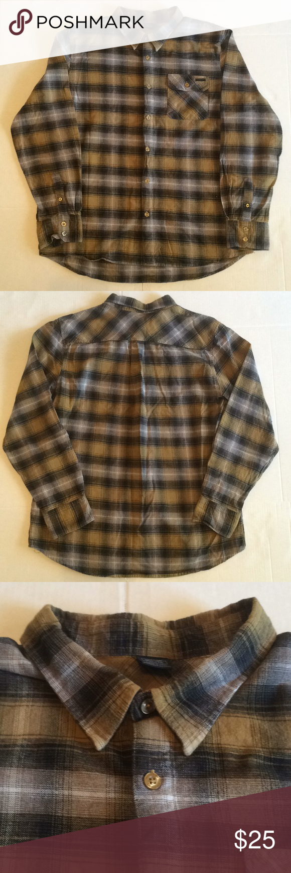 Flannel shirt black and grey  Menus Oakley Plaids u Checks Flannel shirt XL PreOwned Menus Oakley