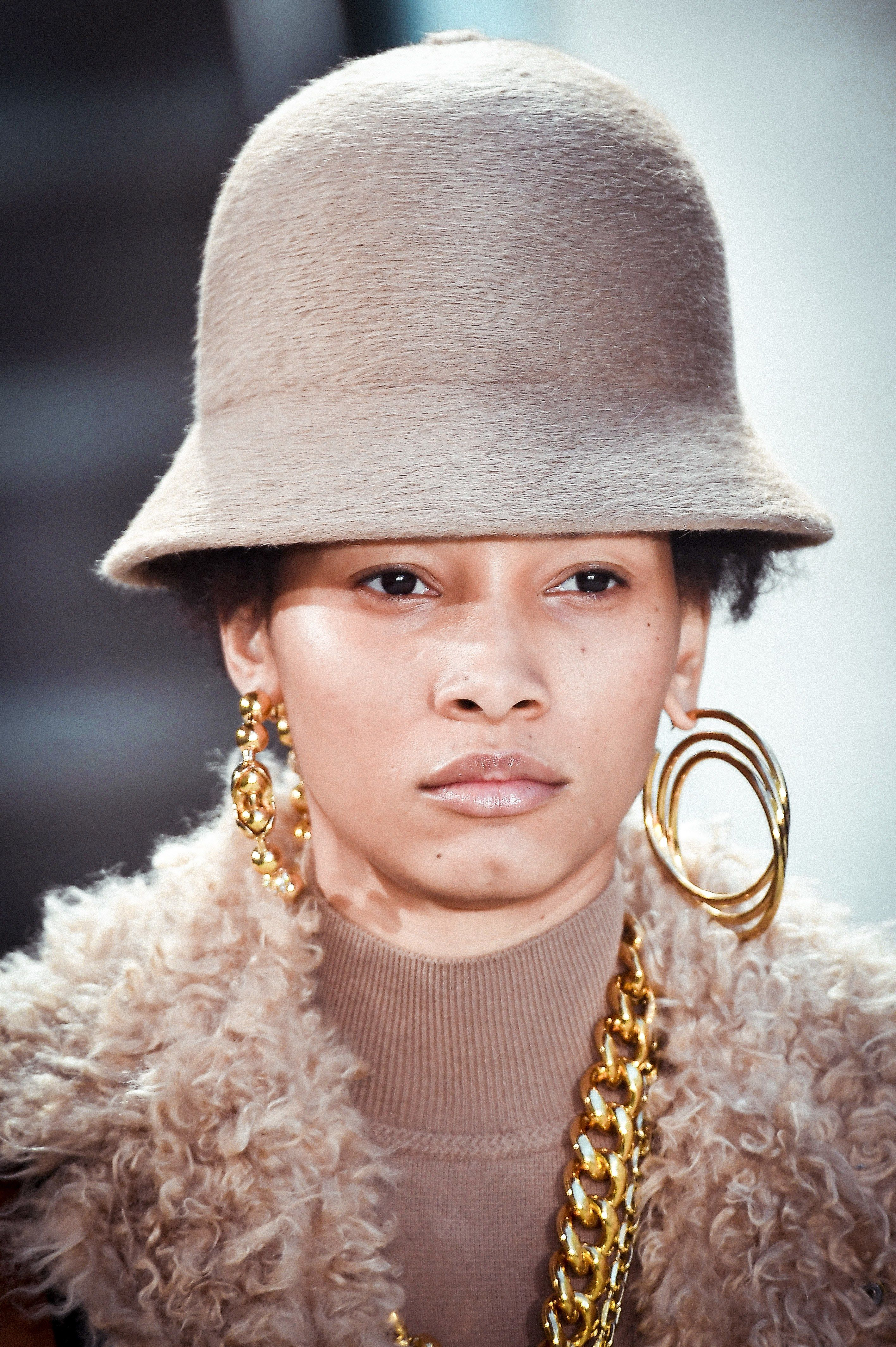 Image result for gold hoops nyfw