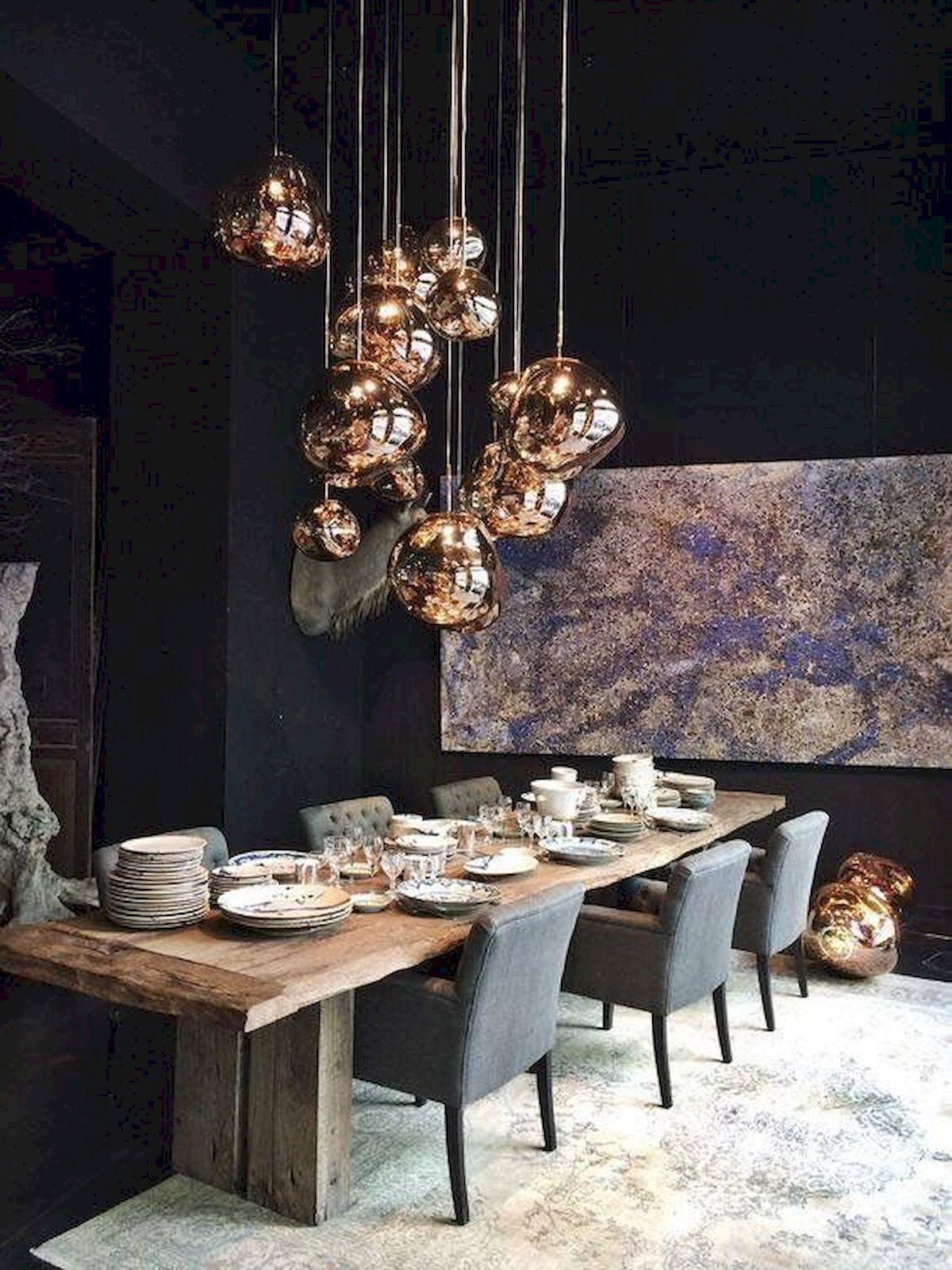 80 Elegant Modern Dining Room Design And Decor Ideas Dining Room Lighting Dining Room Design Modern Dining Light Fixtures