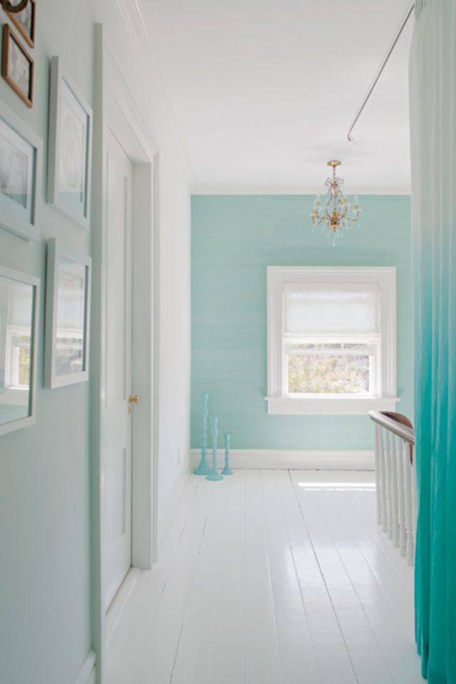 Walls And White Floors Blue Home Decor Hall Colour White Wood Floors