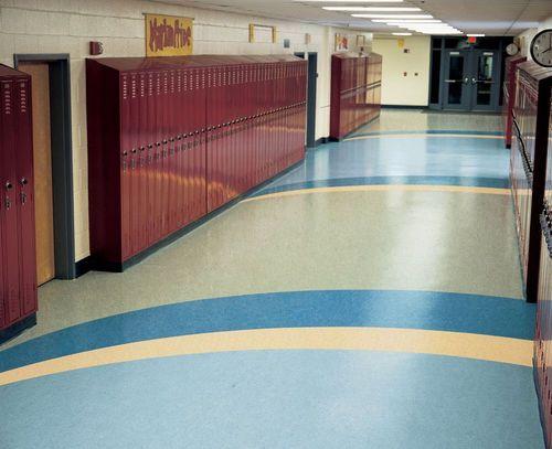 Natural Linoleum Flooring Floorscore Certified Low Voc Emissions Marmorette Purple Mountains Armstrong F Linoleum Flooring Linoleum Eco Friendly Flooring