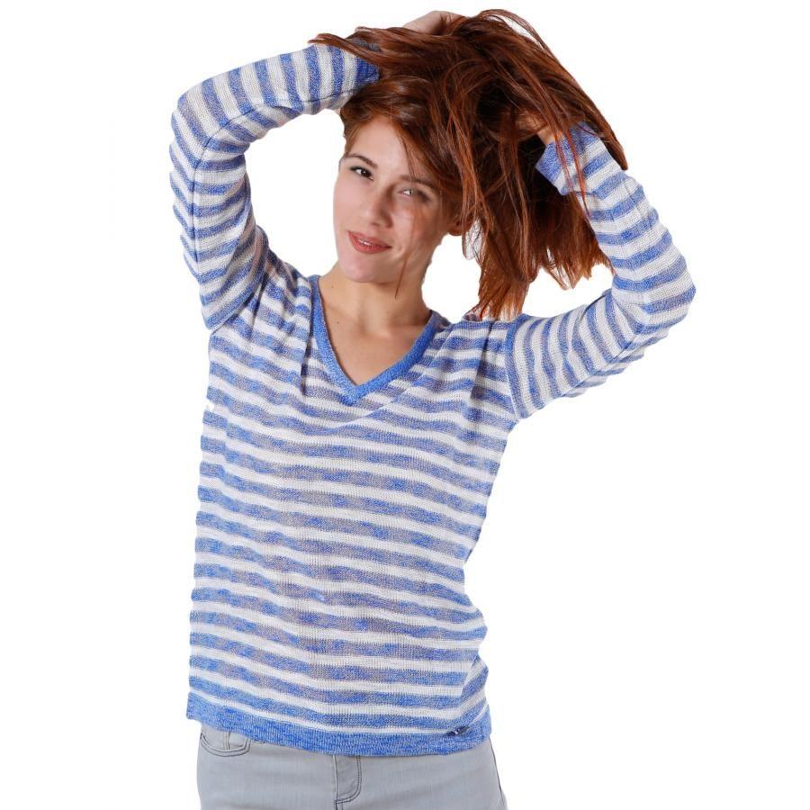 7fefe6d354e3 FRANSA Γυναικεία πλεκτή μακρυμάνικη μπλούζα