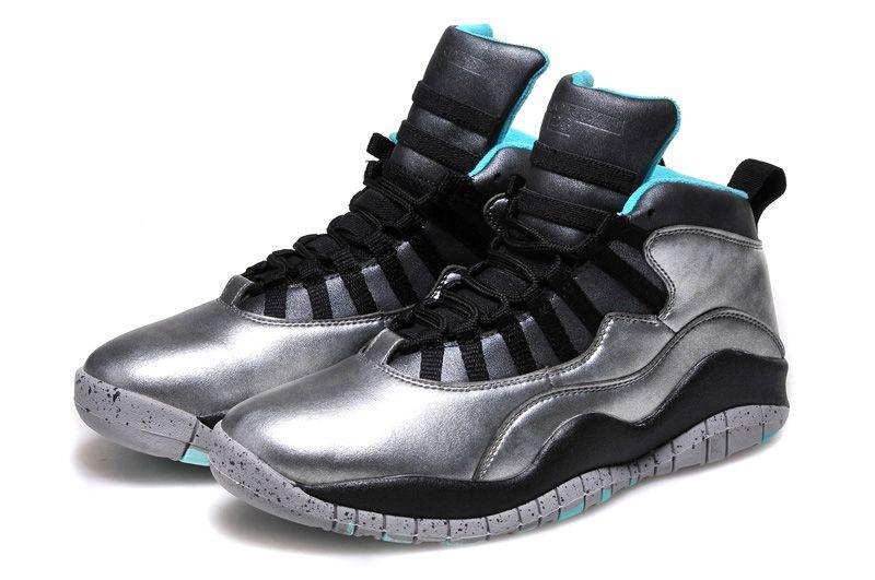 new arrivals cca79 87b07 Nike Air Jordan 10 Retro Kids Shoes Silver Black Blue | New ...