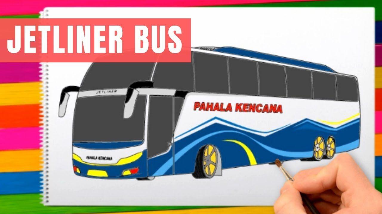 Cara Menggambar Bus Jetliner High Decker Menggambar Bus Pahala Kencana New Video By Qodary Junior On Youtube Youtube Cara Menggambar Video