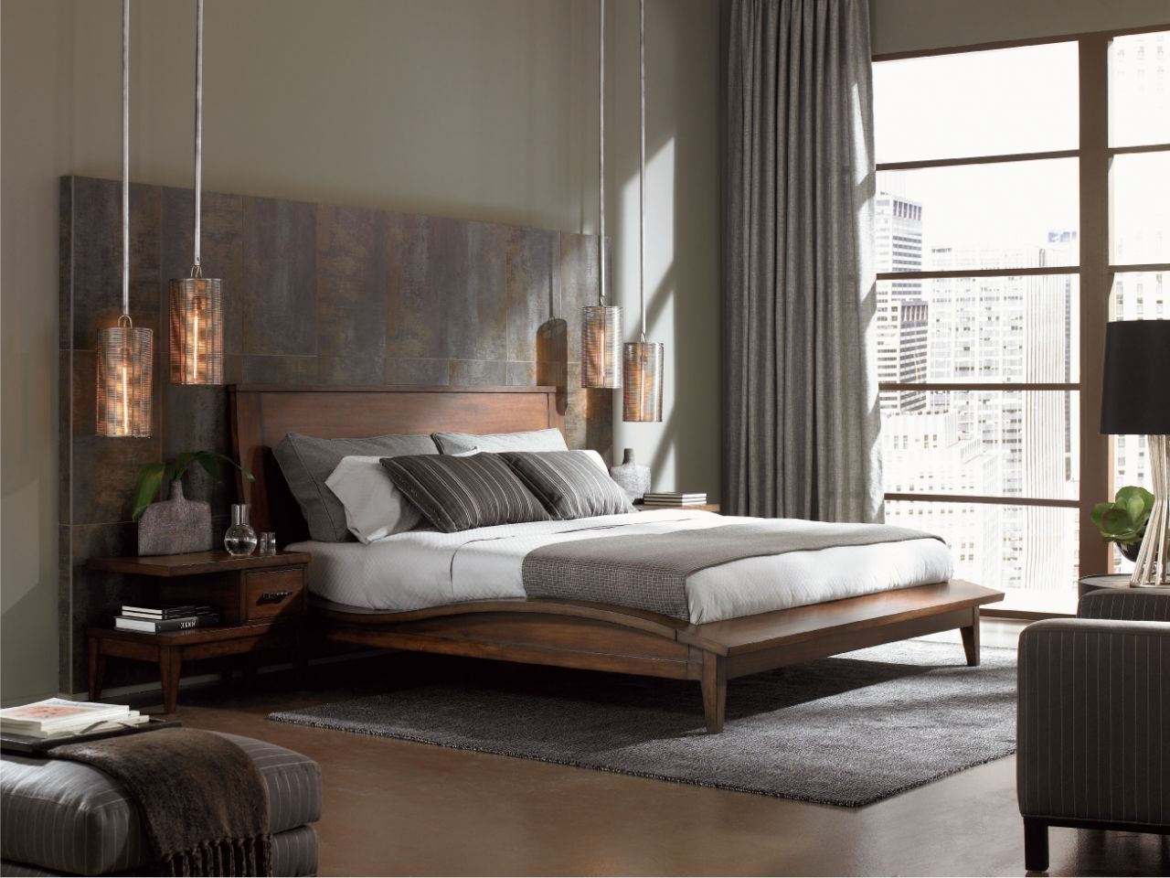 Bedroom Stylish Masculine Bedroom Designs Dedicated For Adult