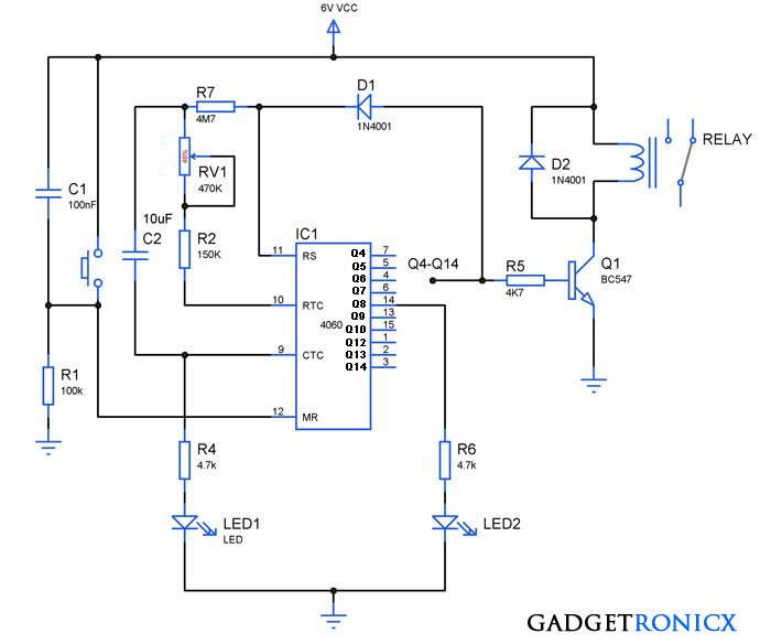 24-hours-timer-circuit-alarm-ic-cd4060 | Timer in 2019