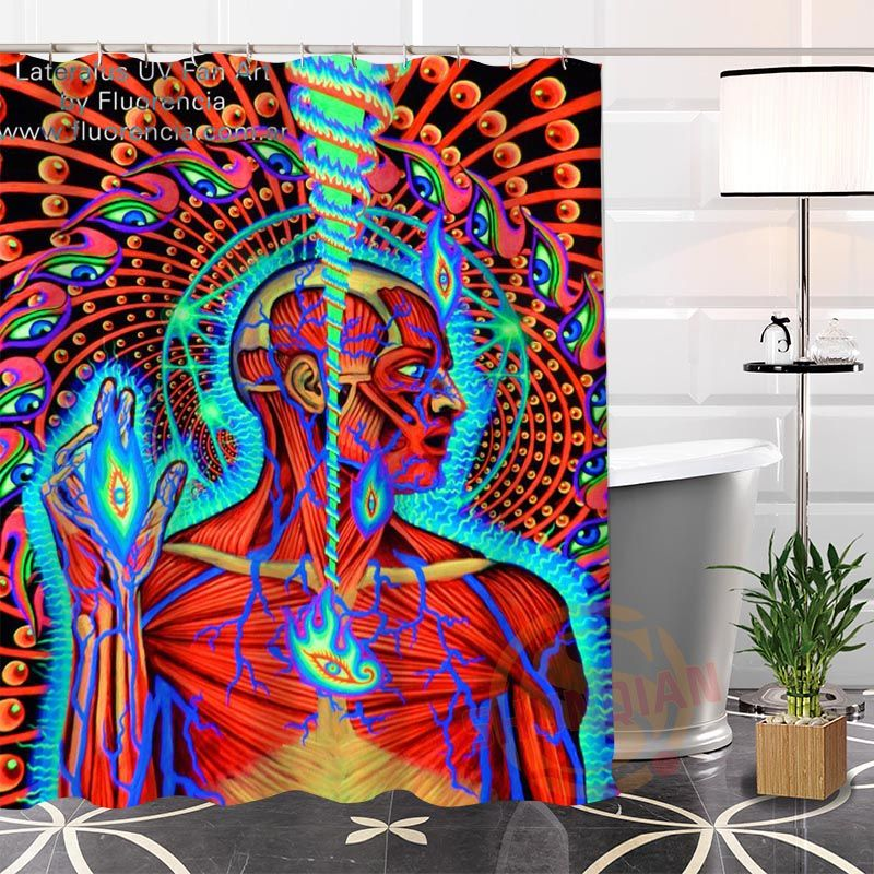 Eco Friendly Custom Unique Alex Grey Thinking Painting Modern Shower Curtain Bathroom Waterproof For Yourself H0220 95 Affiliate