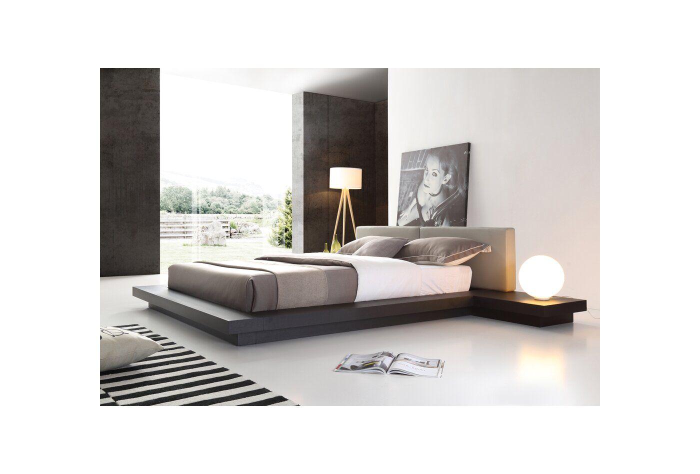 Carter Upholstered Platform Bed Modern Platform Bed Upholstered