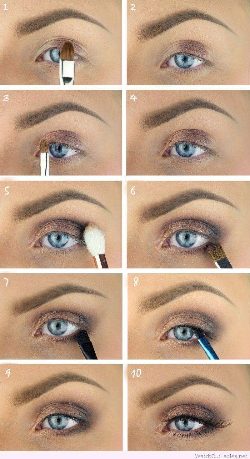 natural eyeshadow blue, smoky eye for blue eyes, natural
