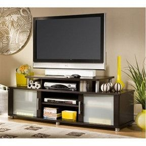 60-in TV Stand in Chocolate Finish - Accommodates TV's up to 40-inch