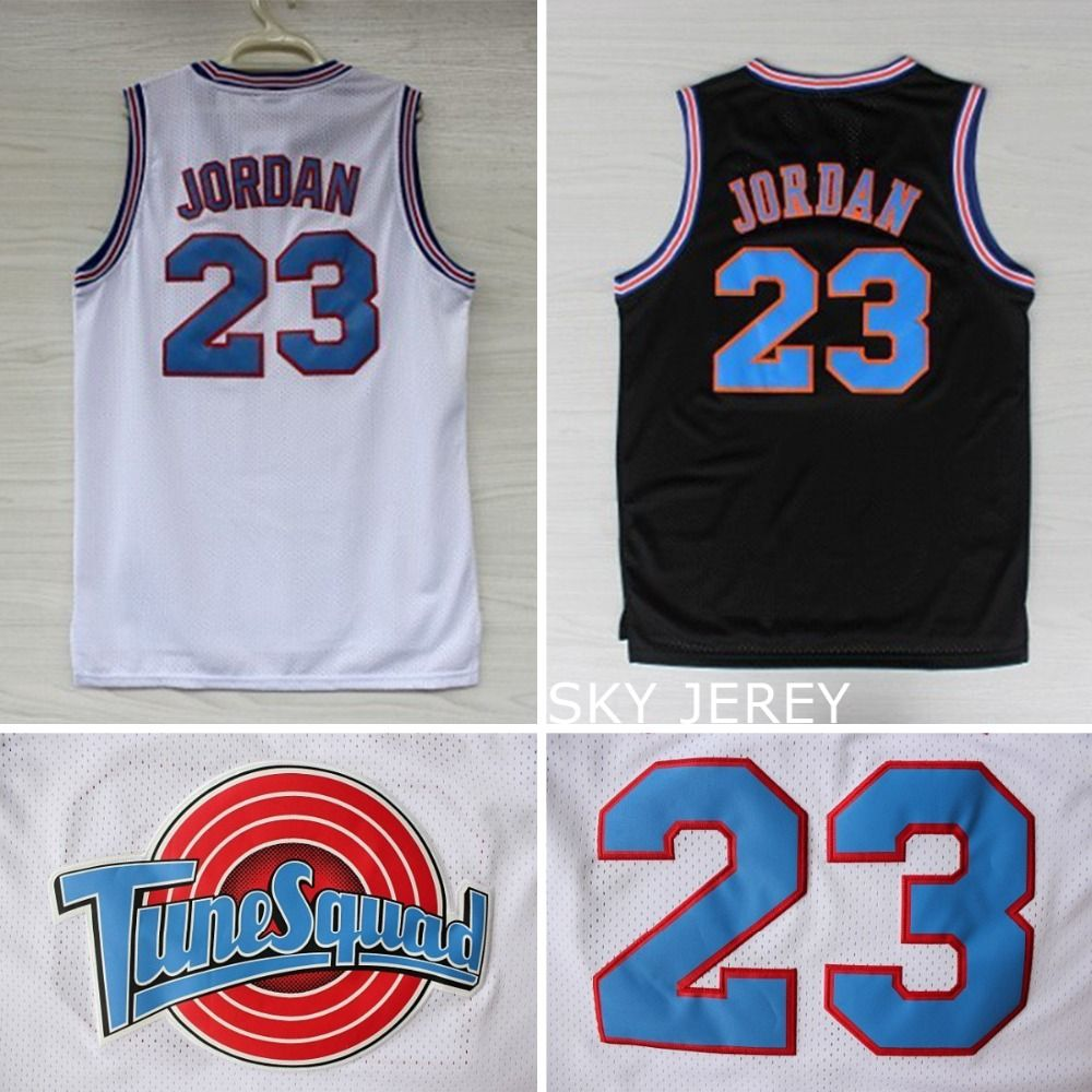 1b9f80609c0 ... Aliexpress.com Buy Space Jam Jersey Michael Jordan 23 White, Cheap Basketball  Tune Squad jersey Michael ...