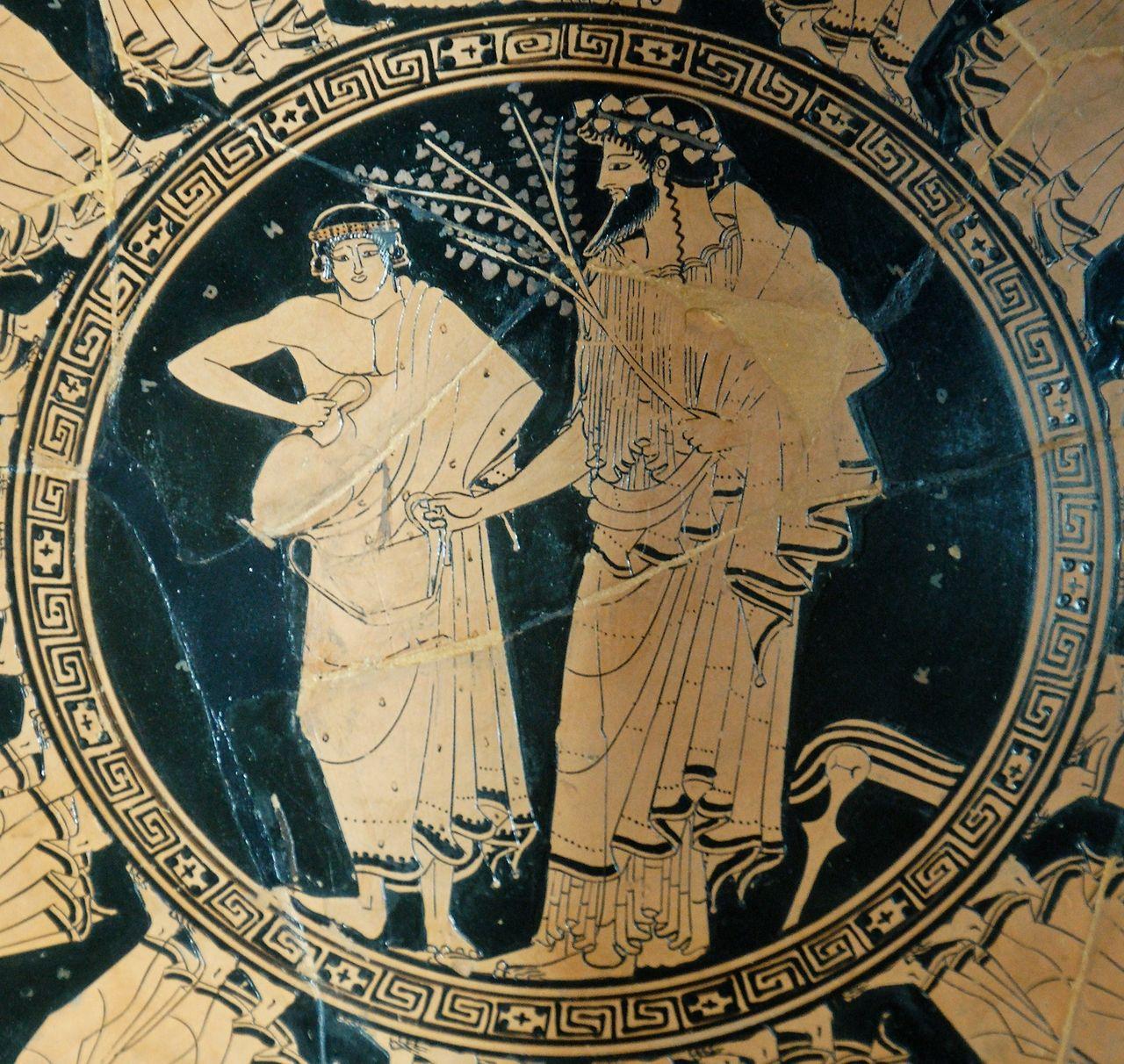 ancientart Tumblr  Procession of male couples (Apaturia's feast?); tondo: youth…