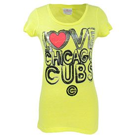 Get this Chicago Cubs Ladies Love Tri-Blend Scoop Neck T-Shirt at WrigleyvilleSports.com
