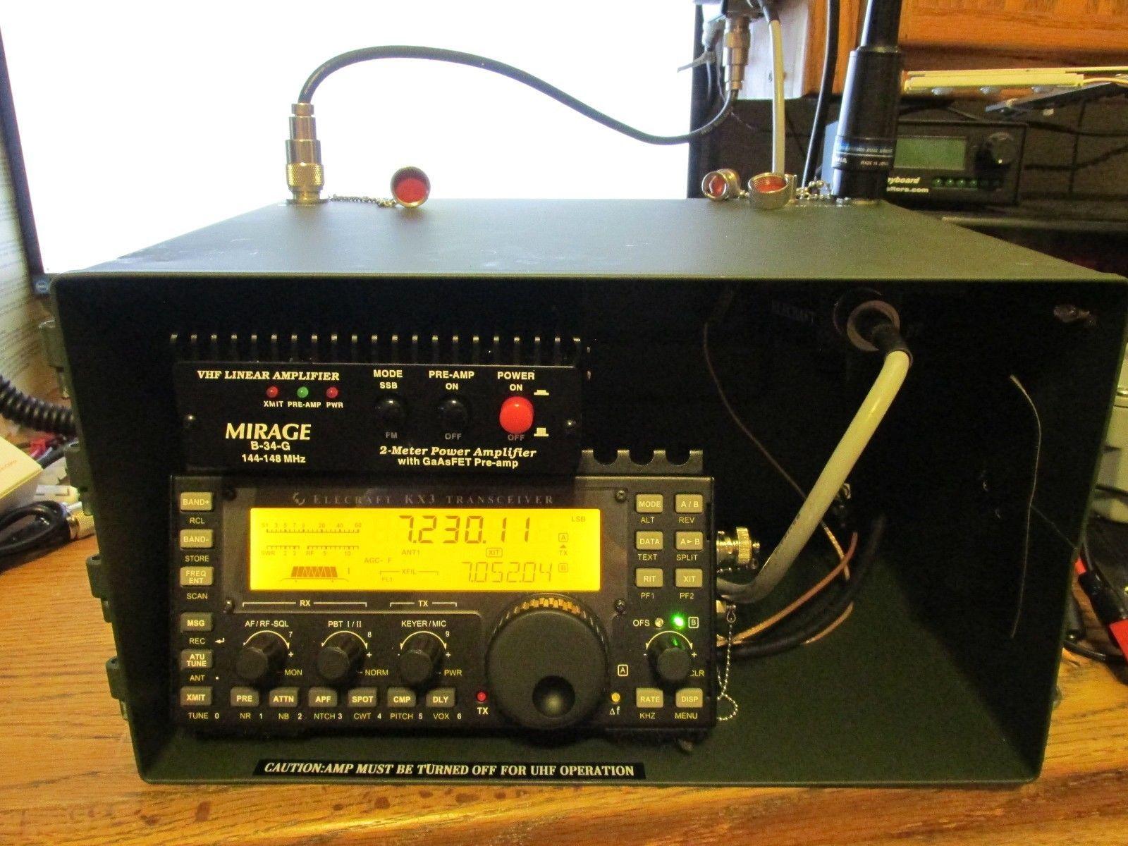 Made for ELECRAFT KX3, and HT Ham Transceiver Ammo Go box with 2m
