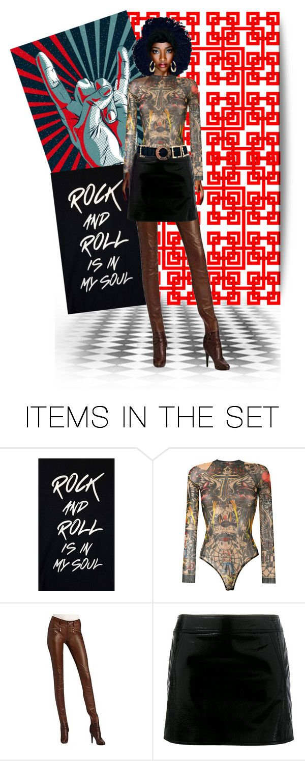 """Rock and Roll is in my soul"" by confusgrk ❤ liked on Polyvore featuring art and contestentry"