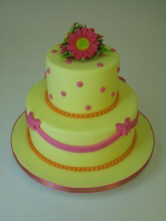 20th Anniversary Gerbera Daisy Cake- International Sugar Art Collection.  www.nicholaslodge.com