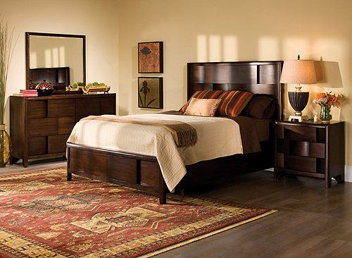 Saratoga 4Pcking Platform Bedroom Set W Storage Bed  Bedroom Custom Raymour And Flanigan Bedroom Sets Design Ideas