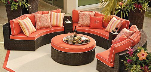 Perfect Frontgate Pasadena Outdoor Furniture Collection   Patio Furniture Sets Love  The Solid Fabric With Coordinating Pillows