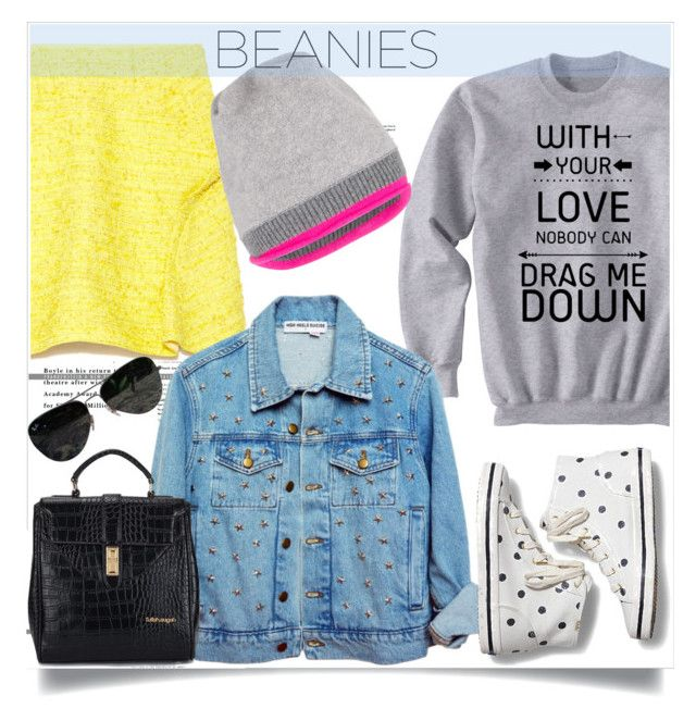 """#beanies"" by sweta-gupta ❤ liked on Polyvore featuring Nina Ricci, Keds, Jigsaw, Ray-Ban and beanies"