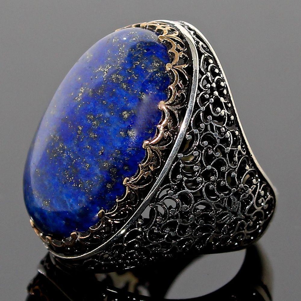 925 Argent Sterling Handmade Authentique Turque Turquoise Bracelet Poignée