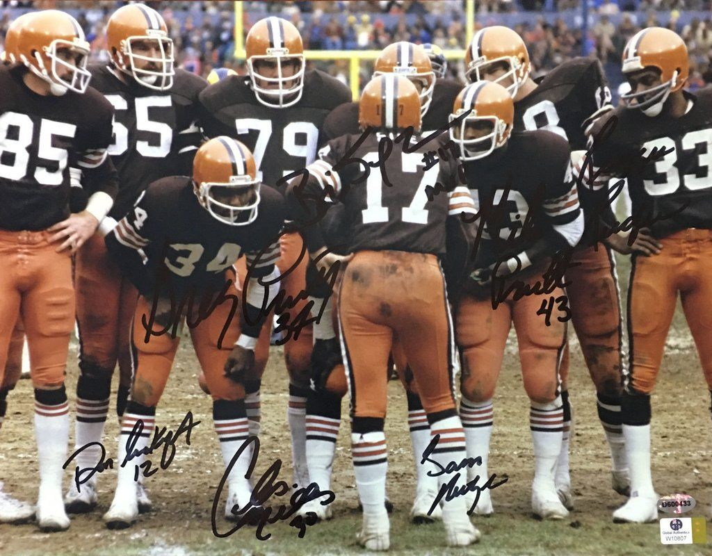 a0fc6f5b 1980 Cleveland Browns Kardiac Kids Team Signed 11x14 Photo – Miller ...