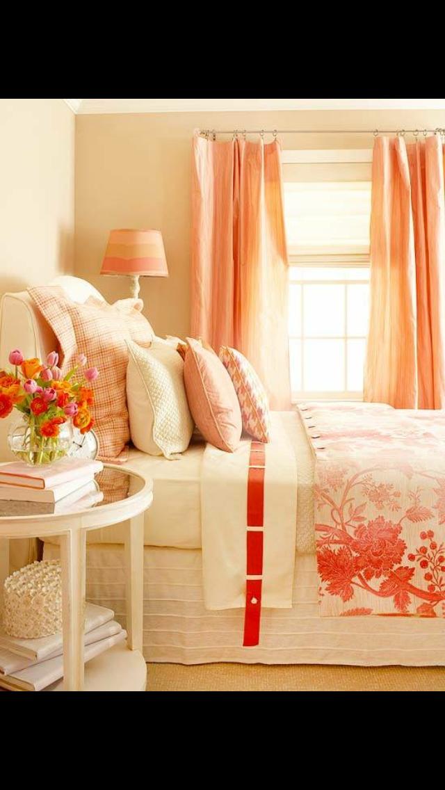 Farbschemata Für Schlafzimmer, Schlafzimmerfarben, Korallen Schlafzimmer,  Schlafzimmer Ideen, Romantische Schlafzimmer, Gästezimmer, Orange  Schlafzimmer, ...