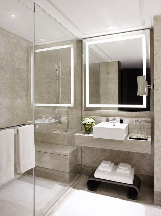 Marriott Singapore, Hba  Very Good For Small Bathroom, Looks Like It Makes  Some Space. Especially Like The Lighted Mirror.