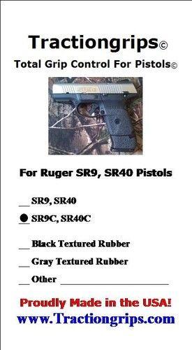 Tractiongrips Brand Grips for Ruger SR9c Pistols Rubber Pistol Grip Set | eBay $10.99