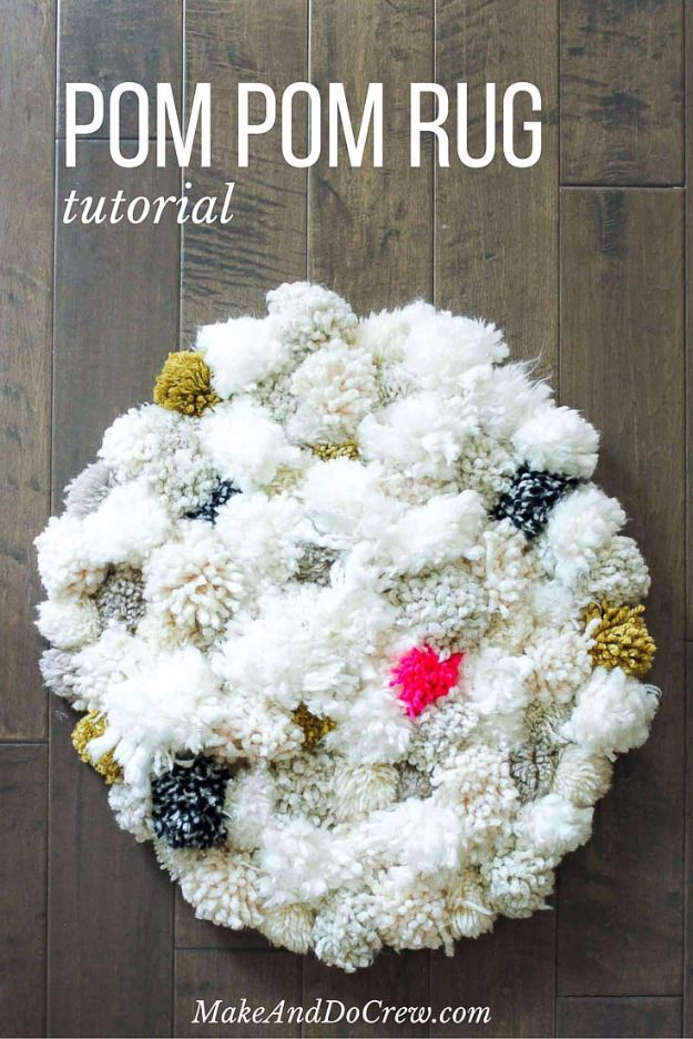 Easy Diy Rugs And Handmade Rug Making Project Ideas Squishy Pom