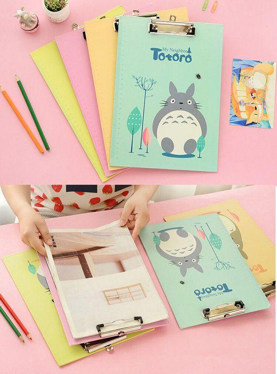 Studio Ghibli Totoro A4 Clipboard Cute School Supplies Pink Office Gift For Stationery Friends Pastel Binder