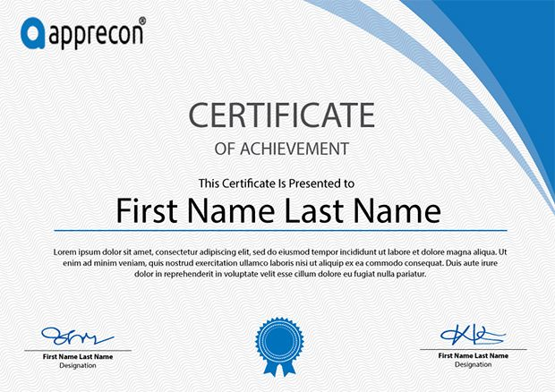 free-certificate-templates-download Certificate Pinterest Free