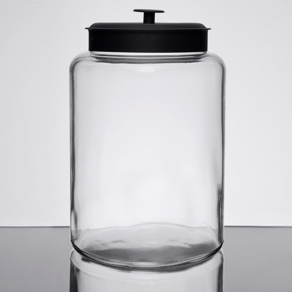 Anchor Hocking 88908ahg17 2 1 2 Gallon Glass Montana Jar With Metal Lid Glass Food Storage Jars Gallon Glass Jars Glass Food Storage