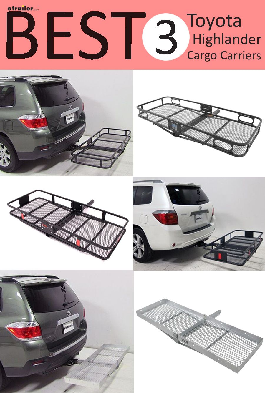 Here Are The Best 3 Cargo Carriers For Your Toyota Highlander Find Carrier All Of Gear On Trips And Outdoor Adventures