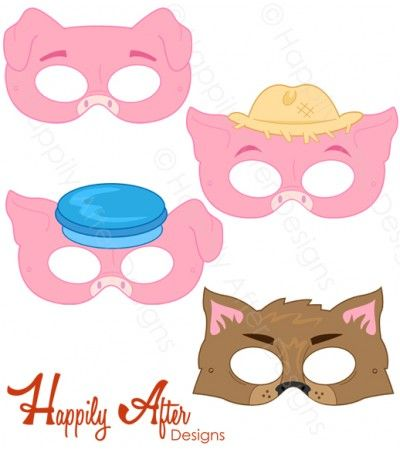 three little pigs printable masks printable paper masks