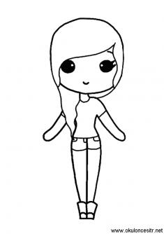 Kiz Boyama Sayfasi Okuloncesitr Preschool Doodle Desenleri Boyama Sayfalari Cizimler