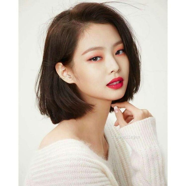 Blackpink Jennie Short Hair Kpop Short Hair Short Hair With Bangs Short Hair Styles
