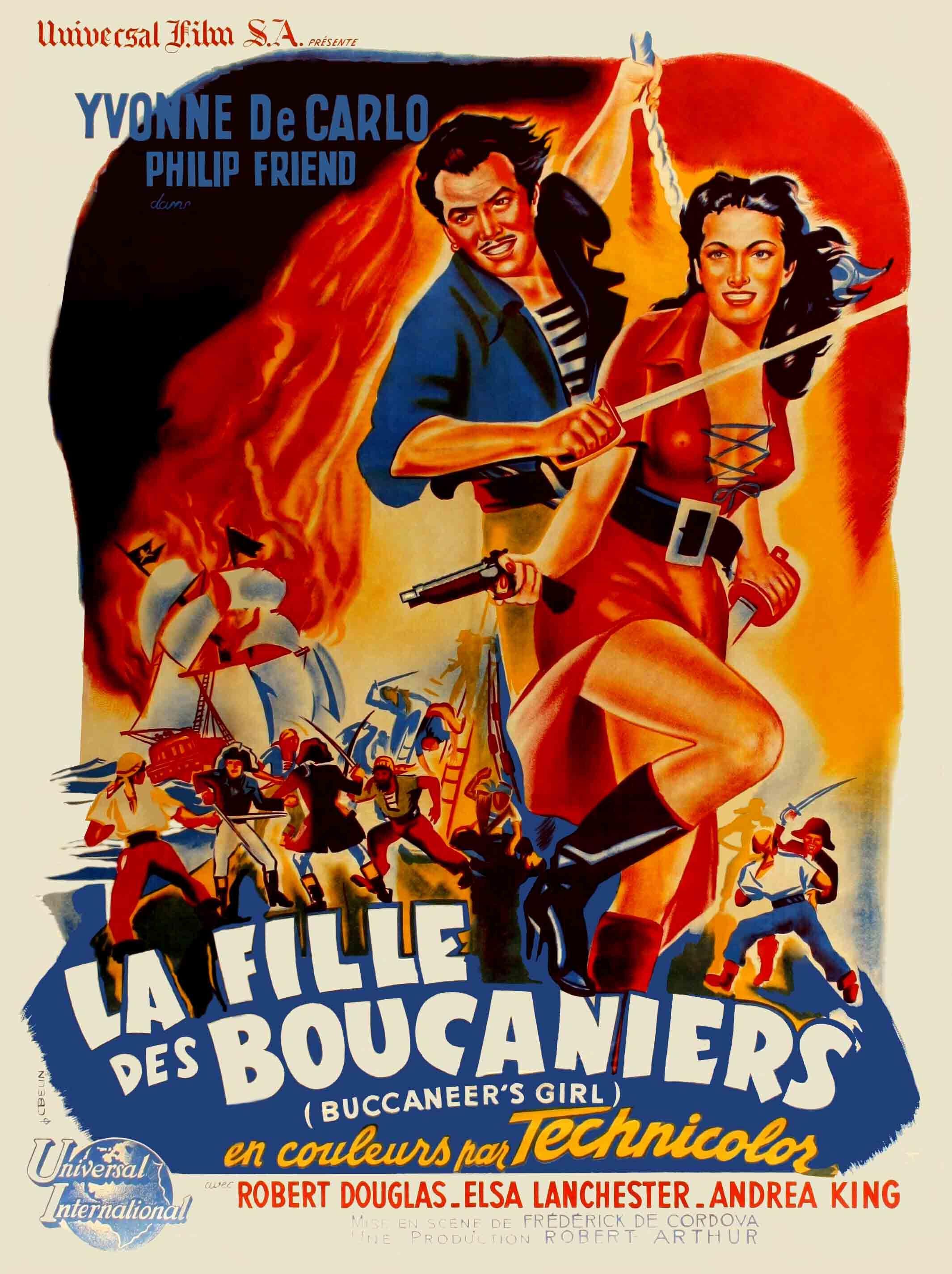Buccaneer's Girl (1950) Film, Yvonne de carlo, Affiche