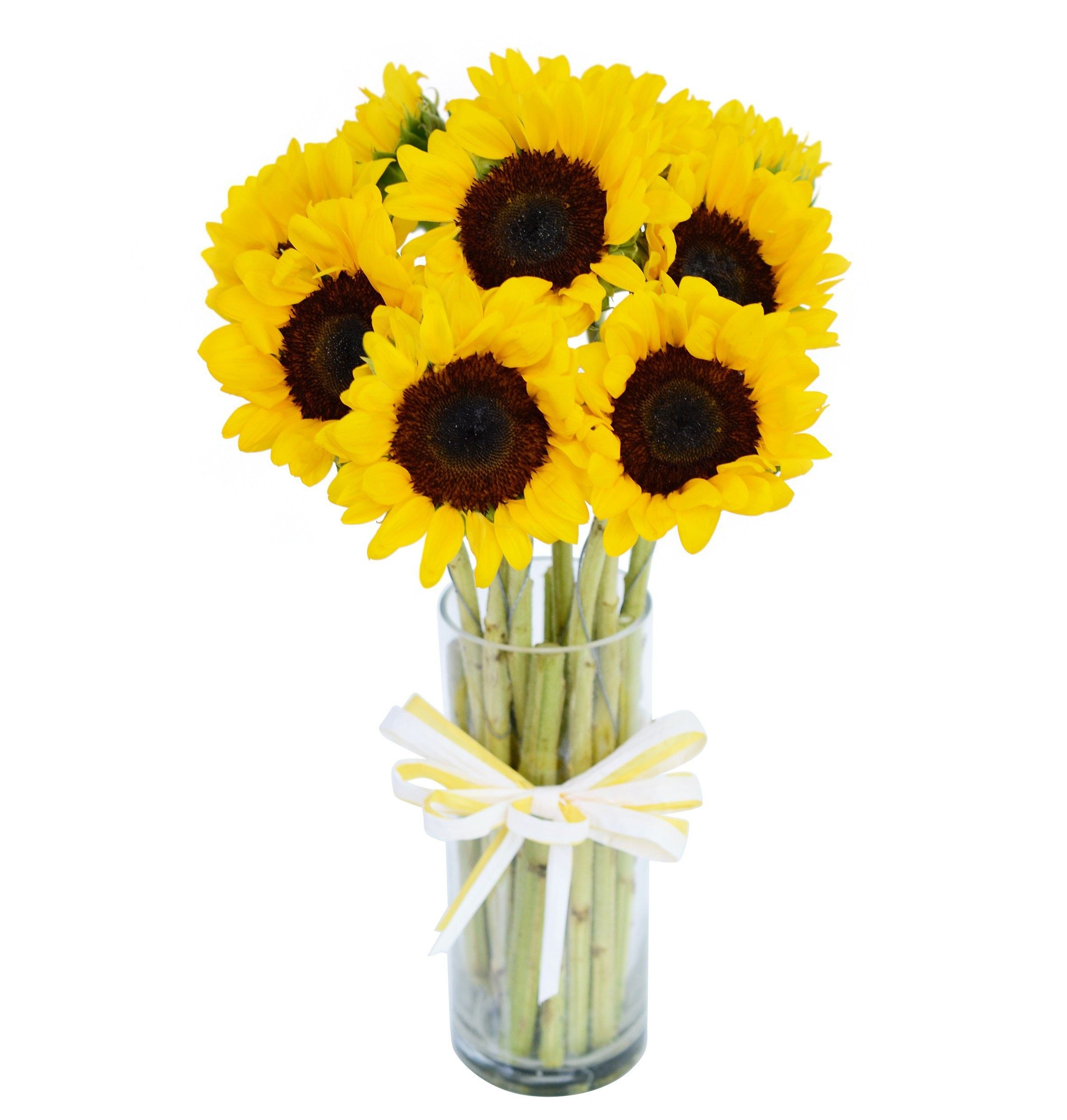 Sunflowers with Vase Online flower shop, Flowers