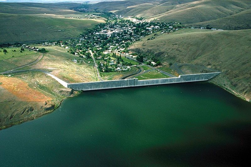 Aerial view of heppner oregon this photograph was taken