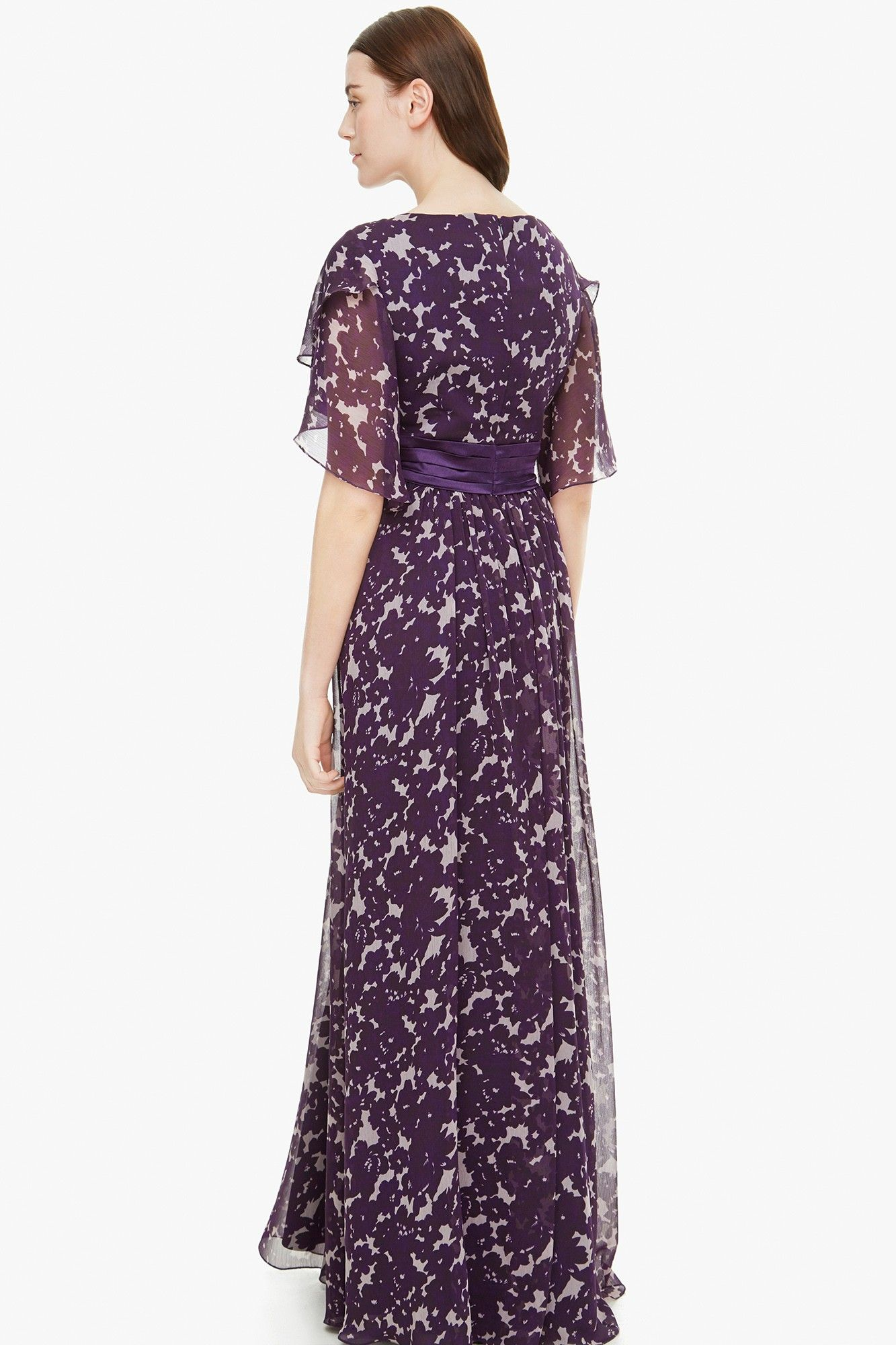 Vestido largo floral - Cóctel | Adolfo Dominguez shop online ...