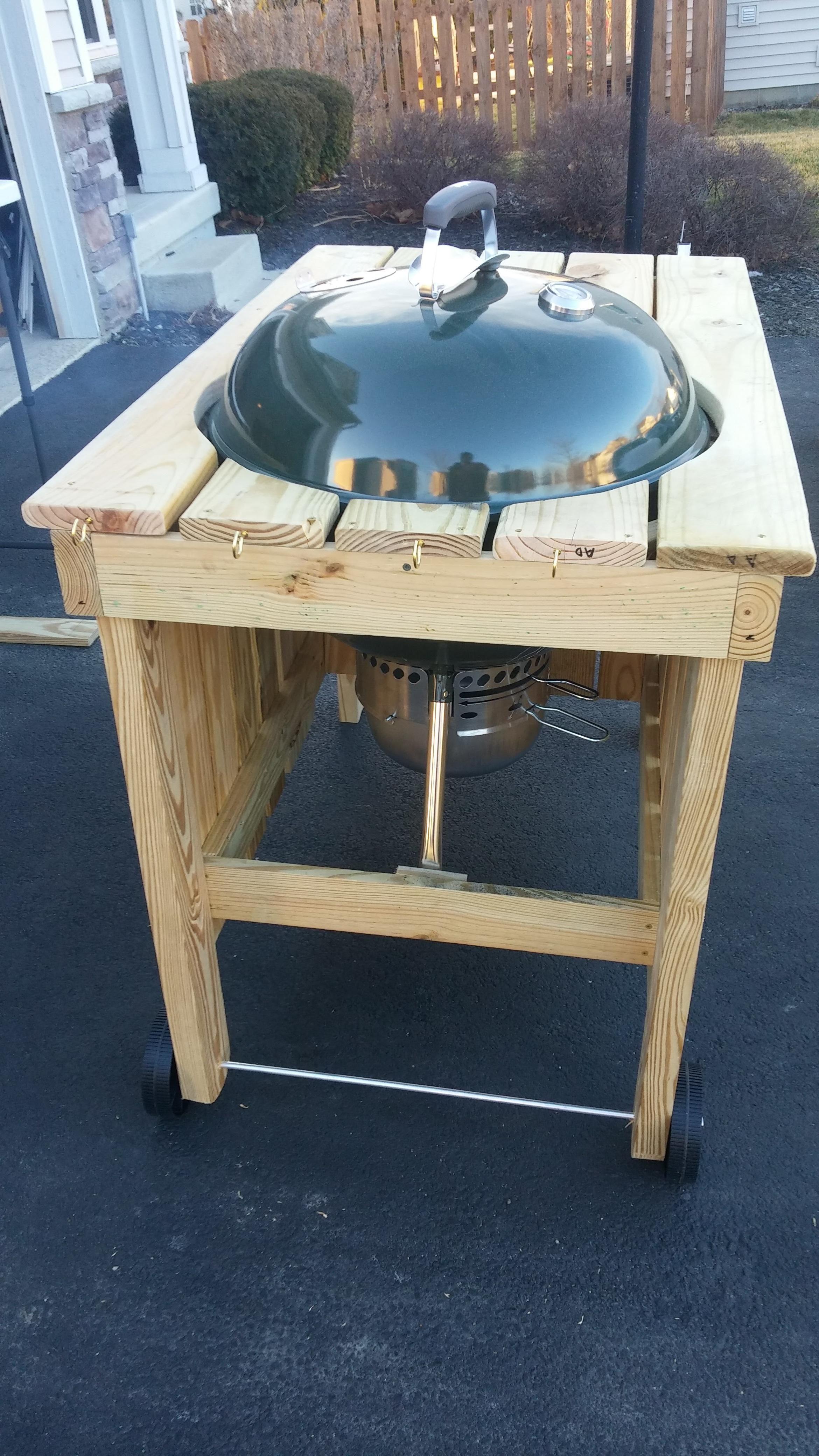 Weber Kettle Grill Custom Cart Build R Diy Diy Grill Table