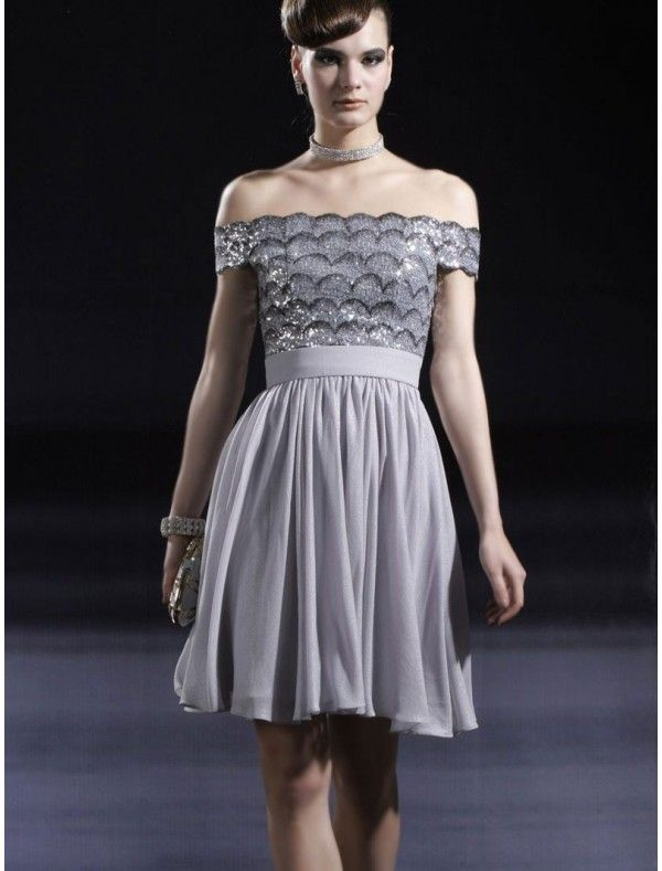 Occasion, Attractive A-Line Short-Length Off-Shoulder PromA-LineCocktail  Dress ,