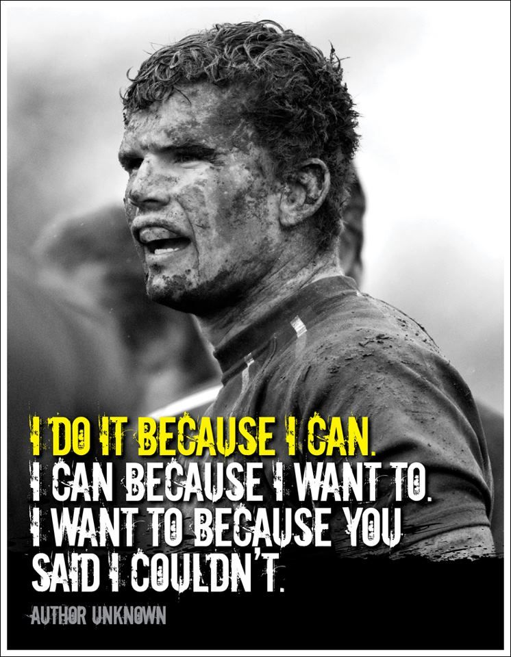 I do it because... (Photo by JRL. London, Ontario, Canada — with rugby player Andrew Crow.)