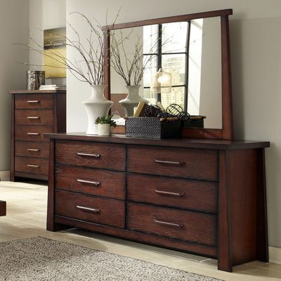 Ligna Furniture Fusion 6 Drawer Dresser With Mirror