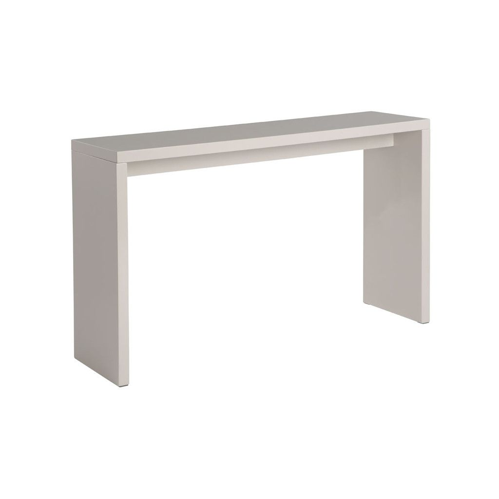 Madrid Console Table, MDF, Light Grey HIgh Gloss Finish