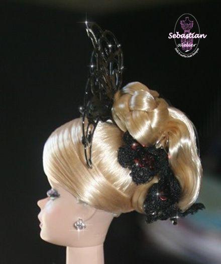 The hairstyle of Spleen de Paris by Sebastian Atelier.